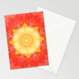 Mandala sun Stationery Cards