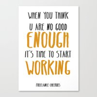 motivation Canvas Prints featuring motivation by genie espinosa