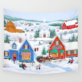 Wintertime in Sugarcreek Wall Tapestry