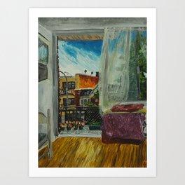 Montreal Living Room and Balcony  Art Print