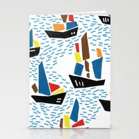 boats Stationery Cards featuring boats by frameless