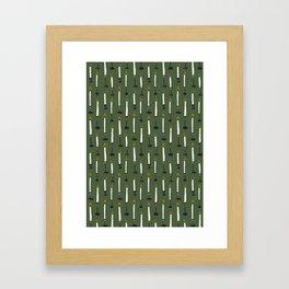 Candles pattern Framed Art Print