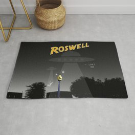 Aliens Over Roswell Rug