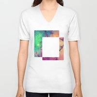 decal V-neck T-shirts featuring Space Decal by artii