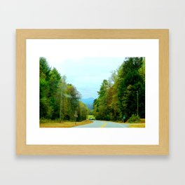 The Mountain Curves Framed Art Print