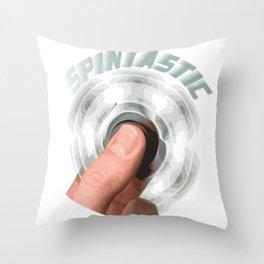 Fidget Spinner Spintastic T-Shirt Throw Pillow