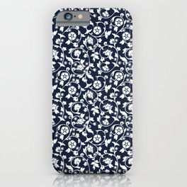 Abstract vintage Floral botanical  Stripes Pattern iPhone Case