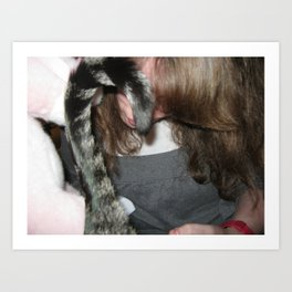 Rocco's Tail and Mama's Hair Art Print