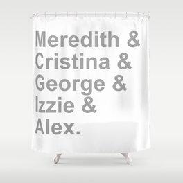 Grey Squad Shower Curtain