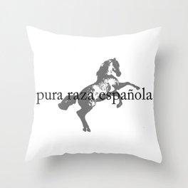pura raza española Throw Pillow