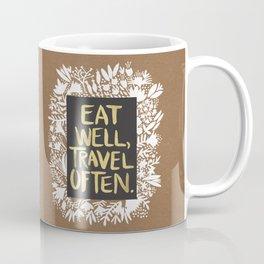 Eat Well, Travel Often (on Kraft) Coffee Mug