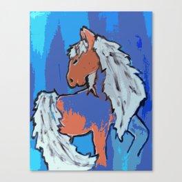 Beach; horse Canvas Print