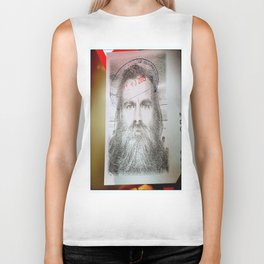 Self-Portrait, Admitted, Crucified at Customs. July 20, 2015 Biker Tank