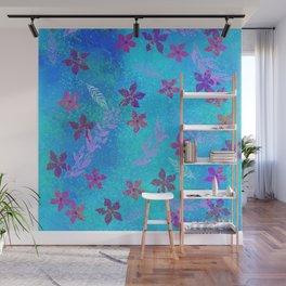 Flower prints pattern 2 Wall Mural