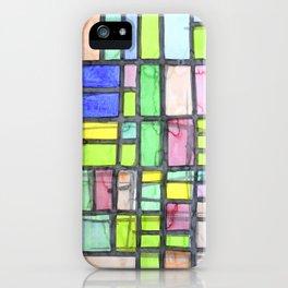 Homage to Mondrian iPhone Case