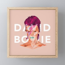 D. Bowie Framed Mini Art Print