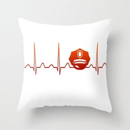 POLICE OFFICER HEARTBEAT Throw Pillow