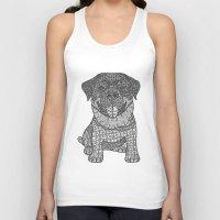 rottweiler Tank Tops featuring Courageous- Rottweiler by DiAnne Ferrer