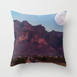 Super Blue Moon over Arizona #society6 #decor #buyart Throw Pillow