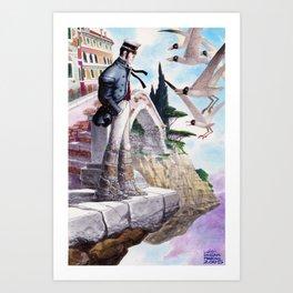 Corto in Venice Art Print