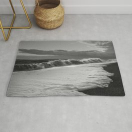 Storm Force Waves At Hythe Beach Rug