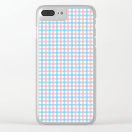 Queer Plaid - Trans Gingham Clear iPhone Case