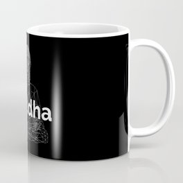 The Buddha. Line Low Poly Version. Coffee Mug