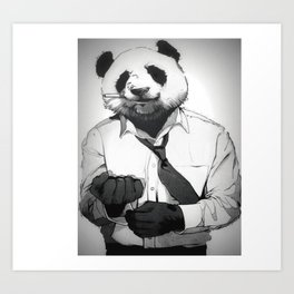 Panda Office Art Print