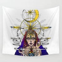 madonna Wall Tapestries featuring Madonna Of Hollywood by I/S/P