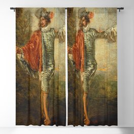 """Antoine Watteau """"L'indifferent (The Casual Lover)"""" Blackout Curtain"""