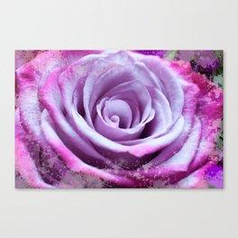 Rose of Love #Pink #Purple #art #society6 Canvas Print
