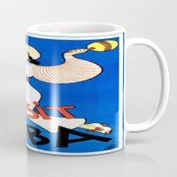 cuba Mugs featuring CUBA by Kathead Tarot/David Rivera