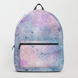 Spring Riff, Abstract, Blue, Pink Backpack