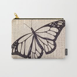 Butterfly in a Book Carry-All Pouch
