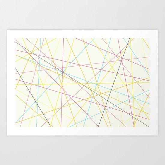 color lines Art Print
