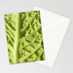 green savoy cabbage II Stationery Cards