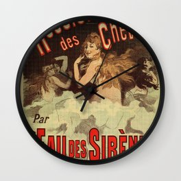 Mermaid water for hairdressers Wall Clock