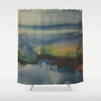 cape cod Shower Curtains featuring Cape Cod/Cahd by Louisa Stickney-Keats