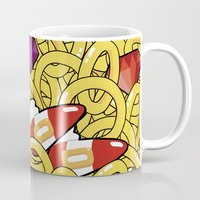 sonic Mugs featuring Sonic Pattern by Pajarona