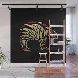 Tribal Black and Gold Bear Symbol Wall Mural