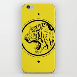 Tiger in a circle iPhone Skin