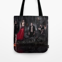 The Vampire Diaries Cast Tote Bag