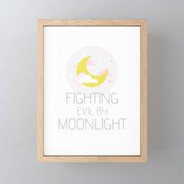 Fighting Evil By Moonlight Framed Mini Art Print