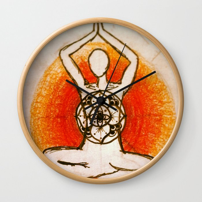 Yogi without words Wall Clock