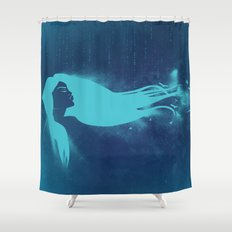 Girl In The Wind Shower Curtain