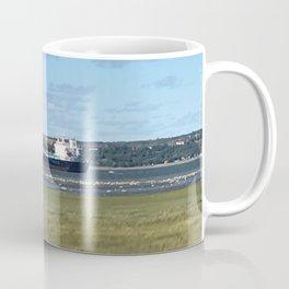 Boat on St-Laurent river Coffee Mug