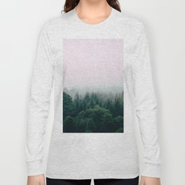 Pink foggy forest Long Sleeve T-shirt
