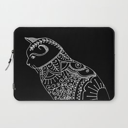 Cat doodle, mehndi style. Laptop Sleeve