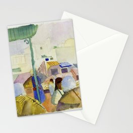 Market In Tunis II - Digital Remastered Edition Stationery Cards