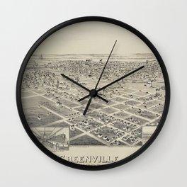 Greenville, Texas 1891 Wall Clock